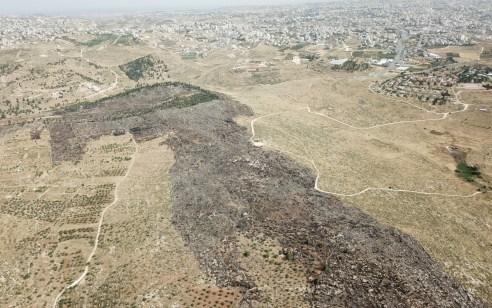 בעקבות התפשטות שריפת קוצים סמוך לישוב בית חגי פונו 30 בתים