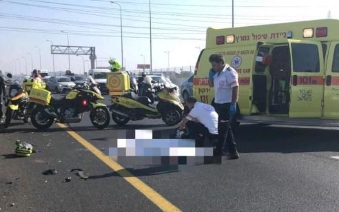 רוכב אופנוע כבן 45 נהרג בתאונת דרכים בכביש 20 סמוך מחלףגלילות