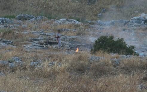 נעצר חשוד בהצתת שטח פתוח בסמוך לשמורת ארבל