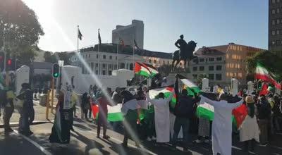 מוות לאמריקה מוות לישראל: הפגנה בדרום אפריקה היום