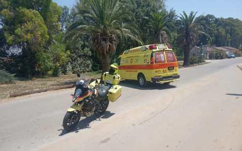 פצועים בינוני וקל בתאונה בכביש 4 סמוך חצות זכרון יעקב