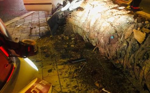 תל אביב: גבר כבן 30 התנגש בעץ ונפצע קשה