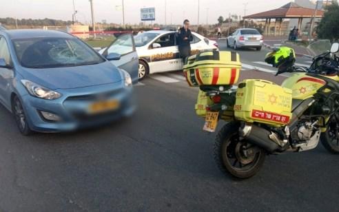 הולך רגל נפצע מרכב בקרית מלאכי – מצבו בינוני