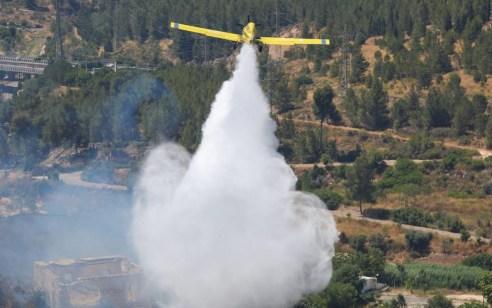 השריפה בליפתא: מטוס כיבוי פגע בכבל מתח גבוה – אין נפגעים
