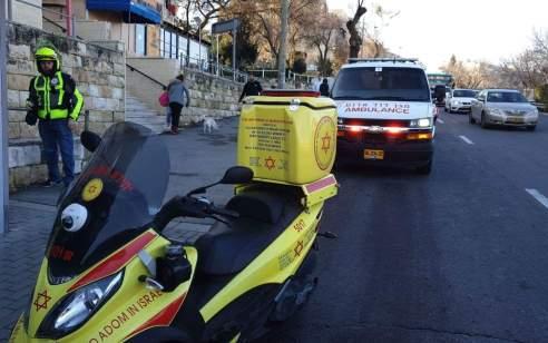 ילדה בת 7 נפגעה מרכב בירושלים – מצבה בינוני