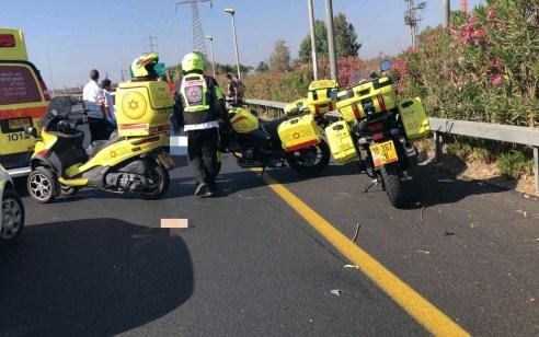 רוכב אופנוע כבן 20 נפצע קשה לאחר שהחליק בכביש 60