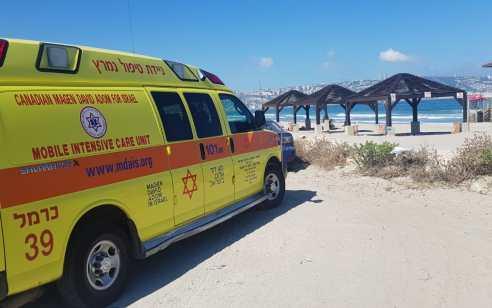 גבר כבן 40 טבע למוות בחוף בחיפה