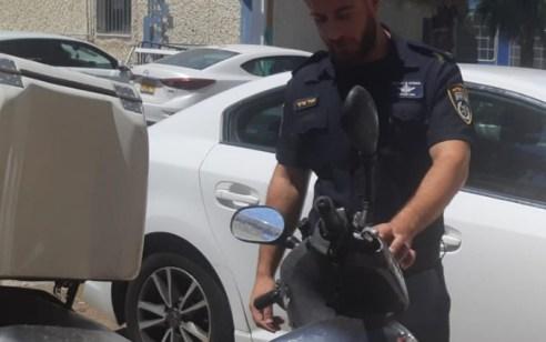 4 תושבי חיפה נעצרו אתמול בחשד לגניבת קטנוע