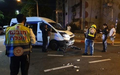 אשדוד: רוכב אופניים כבן 50 נפגע ממניבוס ונפצע קשה