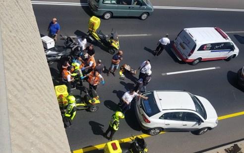 רוכב אופנוע כבן 18 איבד שליטה ועף מגשר בר אילן (471) לכביש 4 – מצבו קשה