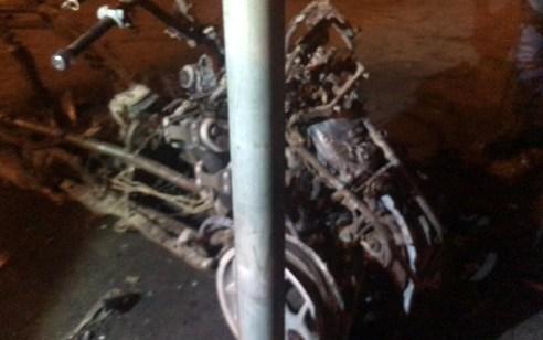 תושב חיפה בן 21 נעצר בחשד להצתת קטנוע משטרתי במהלך מחאות האתיופים