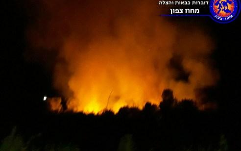 שריפה גדולה פרצה בסמוך לפארק הירדן – מטיילי הפארק פונו