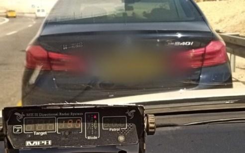"""100 קמ""""ש מעל המותר בקטע הכביש בו אירעה תאונה קטלנית לפני כשבוע"""