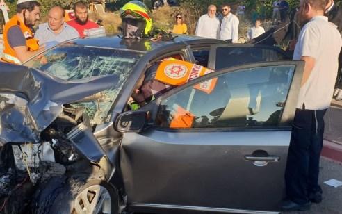 פצוע קשה בתאונה בין אוטובוס לרכב בכניסה לקריית יערים