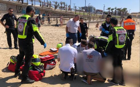 גבר בן 78 נמשה מהים בתל אביב – בבית חולים נקבע מותו