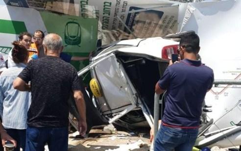 נהג מונית נפצע קשה לאחר שהתהפך בתאונה עצמית בירושלים