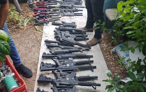 """מעצר חשוד בניסיון שוד באמצעות נשק בירושלים הביא לאיתורם של עשרות נשקי """"פיינטבול"""" שעפ""""י החשד נגנבו על ידו"""