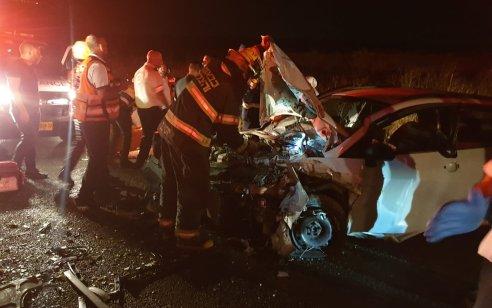 פצוע קשה ו-10 קל בתאונה עם מעורבות שני כלי רכב בין מירון לצפת