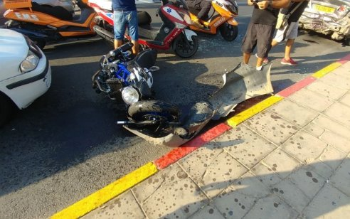 צעיר בן 20 שרכב על אופנוע נפצע בינוני בתאונה באילת