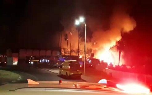 נעצר חשוד בהצתת מועדון בטבריה הלילה