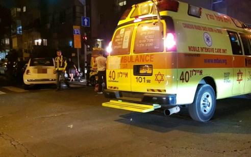 רוכב אופנוע בן 35 נפגע מרכב בתל אביב – מצבו בינוני