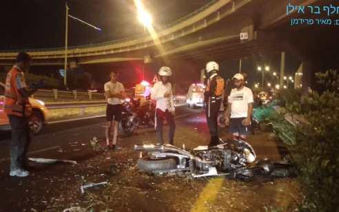 רוכב אופנוע בן 23 נפצע קשה בסמוך למחלף אלוף שדה
