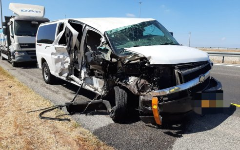 צעיר כבן 20 נפצע בינוני בתאונה עם משאית סמוך למחלף שורק