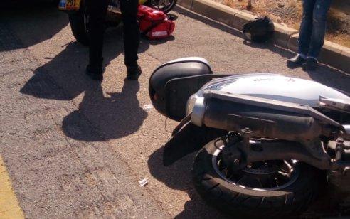 רוכב אופנוע נפגע מרכב בכביש 40 מצומת סגולה לכיוון סירקין – מצבו בינוני