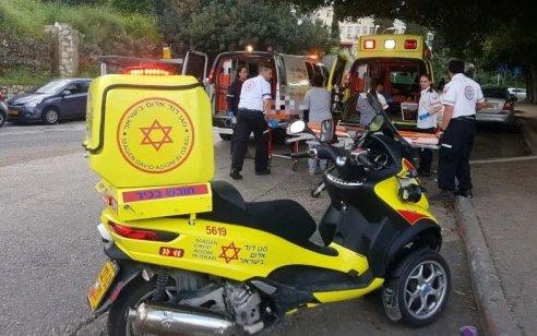 הולך רגל בן 21 נפגע מרכב בחיפה – מצבו בינוני