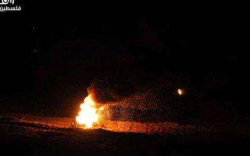 """בתגובה לירי: טנק וכלי טייס של צה""""ל תקפו שני עמדות חמאס בעזה"""