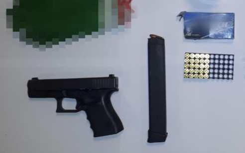 במהלך פעילות יזומה לאיתור אמצעי לחימה בכפר אעבלין נתפס אקדח גלוק, מחסנית טעונה ותחמושת