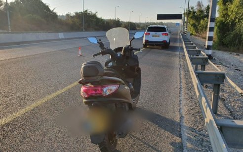 בן 19 תושב שועפט גנב קטנוע ונתפס רוכב עליו ללא רישיון נהיגה