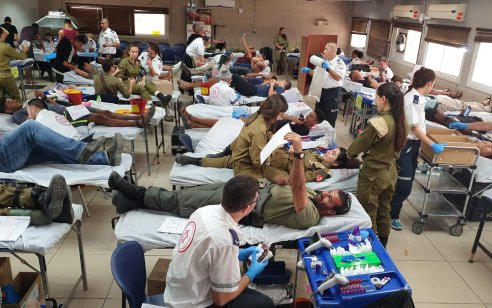 נשבר השיא הישראלי לאיסוף תרומות מנות דם