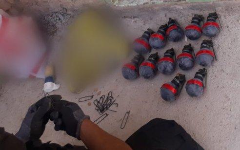 בפעילות יזומה בכפר דיר אל אסד: נתפסו 12 רימוני גז,תחמושת, מחסנית, סמים ומטען מאולתר בשלבי הכנה