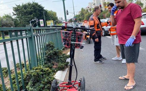 רוכב קורקינט חשמלי כבן 50 נחבל בראשו ברמת גן – מצבו קשה