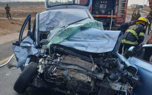 גבר כבן 60 נפצע קשה בתאונה בין רכב למשאית בכביש 264 סמוך לכניסה לשובל
