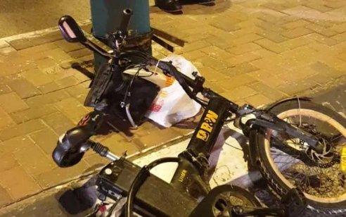 חולון: רוכב אופניים חשמליים בן 56 החליק בזמן רכיבה – מצבו בינוני
