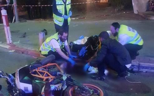 הרוג ופצוע בינוני בתאונה עם מעורבות שני אופנועים בבני ברק