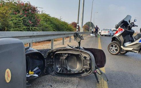 כביש 40: רוכב אופנוע החליק לשוליים ונהרג