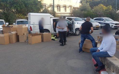 נתפס רכב ובו רכוש החשוד כמזוייף בשווי עשרות אלפי ₪ בנתניה – החשודים עוכבו לחקירה והרכוש הוחרם