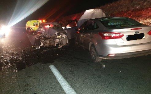 פצועה בינוני ו-4 קל בתאונה בסמוך לצומת אליפלט