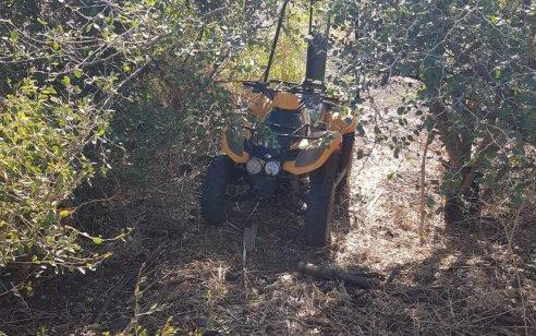 טרקטורון חקלאי שנגנב לפני כ- 3 שנים מחצור הגלילית אותר סמוך לטובא זנגריה