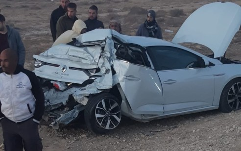 פצוע קשה ו-7 קל בתאונה עם מעורבות משאית ואוטובוס בכביש 25 סמוך לצומת רותם