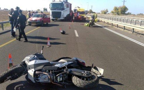 רוכב אופנוע כבן 40 נהרג לאחר שהחליק סמוך למושב זבדיאל