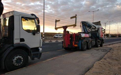 נתפס נהג משאית עם חריגת משקל של 40% מהמותר בחוק