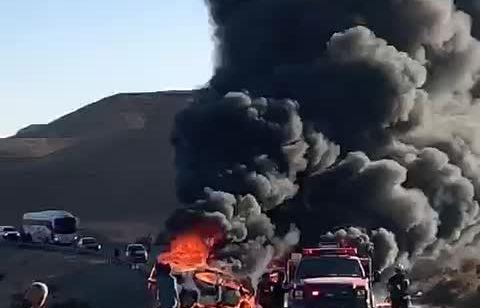 גבר ואישה נשרפו למוות ושלושה נפצעו קשה ובינוני בתאונה חזיתית בערבה
