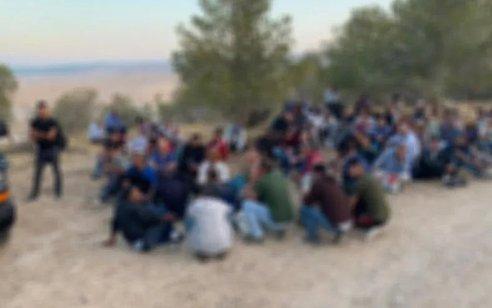 """כוחותינו עצרו 171 שב""""חים שהסתננו לשטח ישראל מאזור מעבר מיתר"""