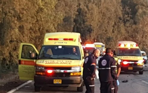 הולכת רגל בת 42 נפצעה קשה מפגיעת רכב סמוך לקדימה-צורן