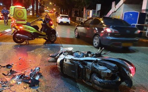 רוכב אופנוע בן 21 נפצע בינוני עד קשה בתאונה בגבעתיים