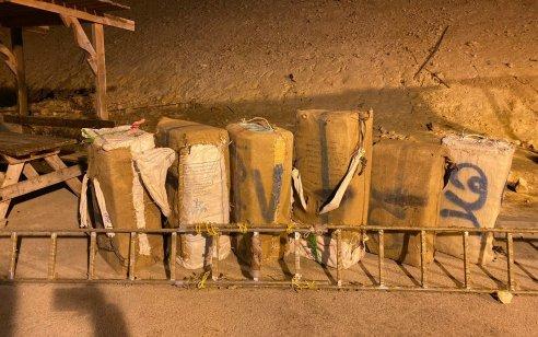 צפו: הלילה סוכלו 2 הברחות סמים שהתרחשו במרחק של כ- 600 מטרים האחת מהשנייה בגבול ישראל מצרים